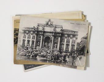 9 Vintage Rome Italy Used Postcards