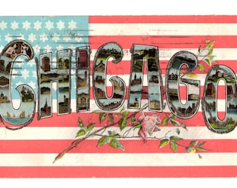 Greetings from Chicago Illinois Vintage Postcard - 1908