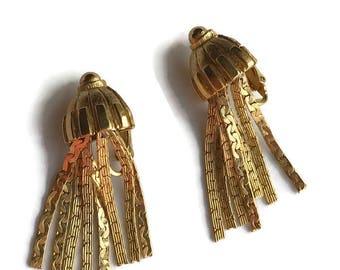 Vintage Park Lane Fringe Medusa Earrings