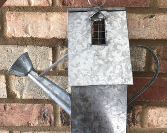 Vintage Watering Can BIRDHOUSE