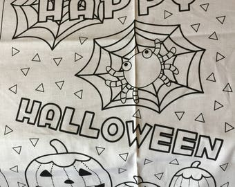 HALLOWEEN DIY Trick or Treat Bag to Make and Color Halloween One Panel to make One Trick or Treat Bag Halloween Let Kids Color it their way