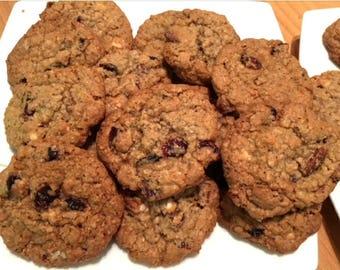 Linda's Love Bites; Oatmeal, Coconut, Cranberry, White Chocolate Cookies - Per Dozen