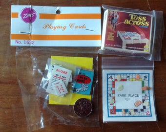 Games for Dollhouse set of 3