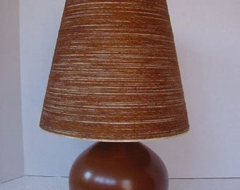 Lotte Bostlund Lamp, Ombré Pottery with Fiberglass Shade