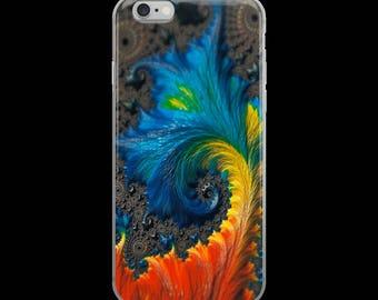 Fractal Color Wave - iPhone 6/6S, 6 Plus/6S Plus, iPhone 7/8, 7 Plus/8 Plus, iPhone X Snap-On Case