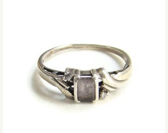 ON SALE Amethyst Sterling Silver Statement Ring Size 9