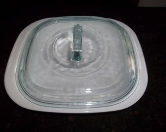 Simply Lite Corning Ware 1 1/2 QuartJust White  Casserole Dish/lid