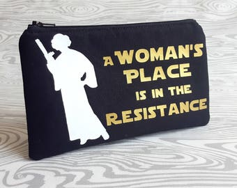 Princess Leia Zipper Pouch, Princess Leia Bag, Geek Chic, Fandom, Fandom Merch, Geek, Geekery, Rebel Alliance, Star Wars Rebell Alliance, SW