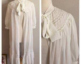 60s Cream Radcliffe Housecoat