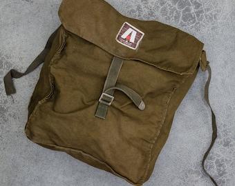 Military Back Pack Vintage Ruck Sack Army Green Backpack Korea Bag 7VV