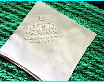 Tucson Arizona Temple Dedication Handkerchief - Plain Edge