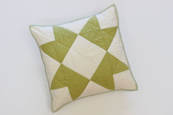 Green Farmhouse Throw Pillow