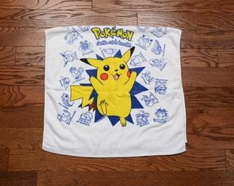 vintage 90s Pokemon towel Gotta catch 'em all! 1990 Pokemon collectible towel youth beach towel 100% cotton Franco 43x24