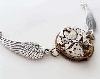 Vintage Pocket Watch Pendant - Military Chic - Steampunk Inspred Timeless Relic
