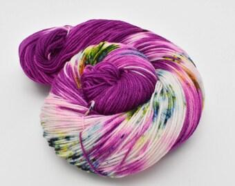 Coco Fingering, Hand Dyed Yarn, Fingering Weight, Superwash Merino, Ultra Soft Merino, Yarn, Hand Painted, 100g, The Right Stuff