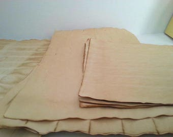 10 large pieces of coffee dyed papers for crafts | hand dyed papers | coffee stained papers | papers for art journals | collage papers dyed