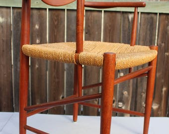 No.2 Danish Modern Teak Arm Chair 317 Peter Hvidt & O.M. Nielsen Soborg Mid Century Local Pickup 92054 or Greyhound Express Shipping Avail