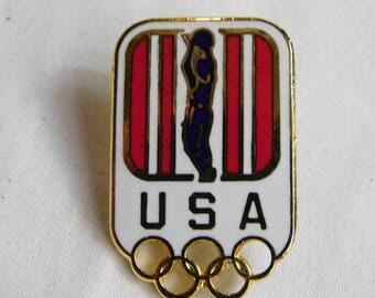 Original  Atlanta 1996 Olympic Games  Basketball Pin   dr47