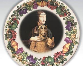 ALF.....Up-Cycled Antique Plate