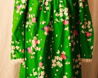 Vintage Floral Princess Kaiulani Dress