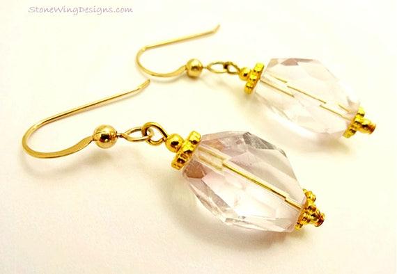 Pale Lavender Amethyst Nugget Earrings