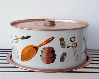 Vintage Cake Carrier, Cake Safe Saver, Metal Pie Safe, Weibro Cover Dome, Kitchen Aids Design, Copper Kitchen Decor