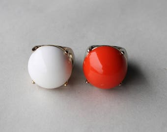 Vintage Statement Rings Bubble Gum FREE SHIPPING