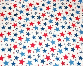 Patriotic Americana Fabric, Star Fabric, By The Yard, 4th of July, Northcott Fabrics, Red White Fabric, Crafting Sewing Fabric, Cotton