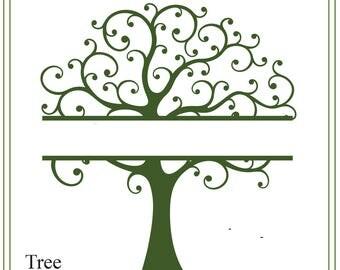 Tree svg, tree of life svg, split tree svg, nature svg, family tree svg, tree illustration, greeting cards, signs, iron on tree, printable