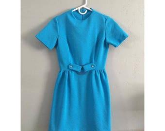 Vintage Sky Blue Mod Dress