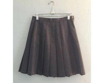 90's Charcoal Gray High Waist Pleated Tennis Skirt
