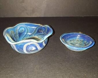 Handblown glass dishes