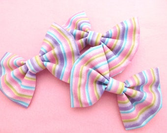 5in Hairbow {sparkling rainbow}