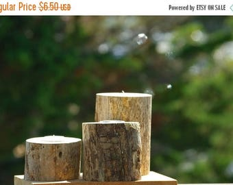 Back To School Sale Set of 3 Rustic Driftwood Candle Holder Branches Nautical Beach Decor Tealight Tree branch wood wooden lodge cabin count
