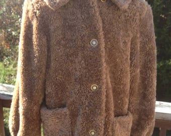 CHRISTMAS in JULY SALE Faux Fur Winter Brown Bear Coat Jacket