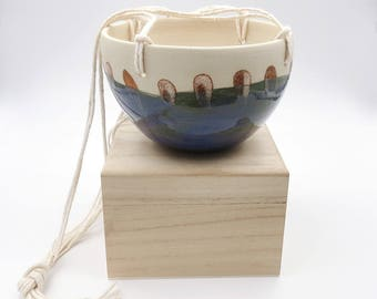 Blue Hanging Planter. Small Ceramic Planter. Blue Pottery. Indoor Planter. Dorm Gift