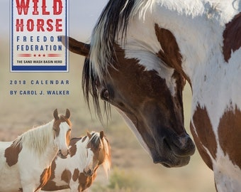 New!  Wild Horse Freedom Federation 2018 Wild Horse Calendar  - 2018 - Carol Walker - Wall Calendar - Wild Horse