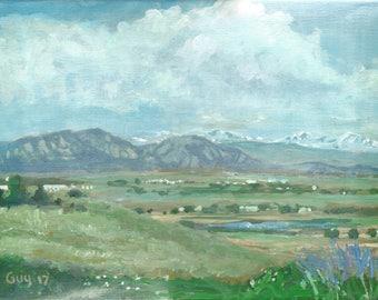 Front Range - Original Acrylic Colorado Rocky Landscape Painting