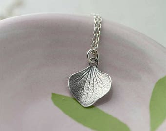 Silver Petal Necklace | Sterling Silver Necklaces for Women | Gift for Women | Gift for Her | Handmade Jewelry Jewellery by Burnish