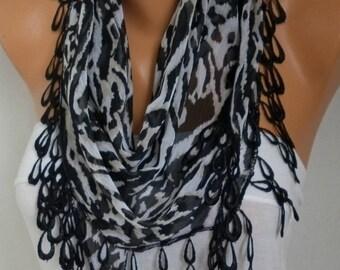 Zebra Chiffon Scarf,Christmas Gift, Shawl Scarf Cowl Scarf Gift Ideas For Her Women Fashion Accessories - fatwoman