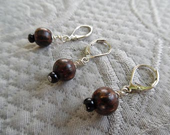 "Removable Stitchmarkers, set of 3 Clip-style, ""cocoa"",  up to 6.5 mm needles"