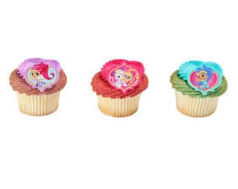 12 Shimmer And Shine Make A Wish Cupcake Cake Rings Birthday Party Favors Toppers