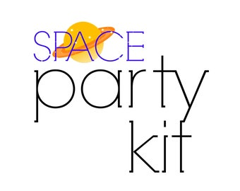 Space Birthday Party Kit | Outer Space Party in a Box! | Kid's Party for 24 | Rocket Ship Party Decor | Space Birthday Party Decorations
