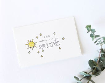 Sweet Valentine Card - Game of Thrones - My Sun and Stars