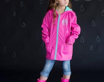 Monogrammed Kids Rain Jackets