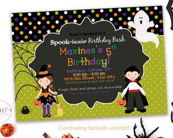 Kids Halloween Birthday Invitation, Halloween Costume Party Invitation, Kids Halloween Party Invitation, Halloween Invitation Kids, Digital