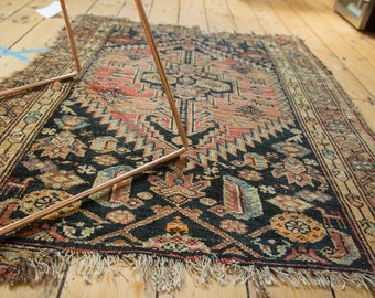 3.5x4.5 Antique Tattered Malayer Square Rug