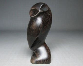 Iron wood owl sculpture , small size
