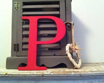 Giant Wooden Letter - P - Times Roman Font, 50cm high, 20 inch, any colour, wall letter, wall decor - various colours & finishes