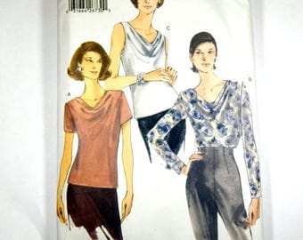 Supplies Pattern Womens Blouse Top Vogue 9771 Easy Options Size 18-20-22